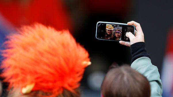 Un selfi durante la Copa de Naciones en Portugal