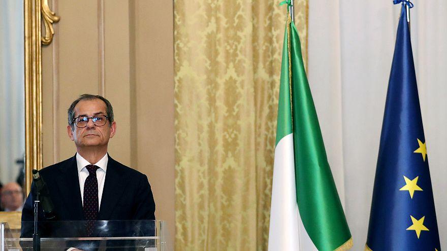 Ministro dell'economia Giovanni Tria all'Eurogruppo