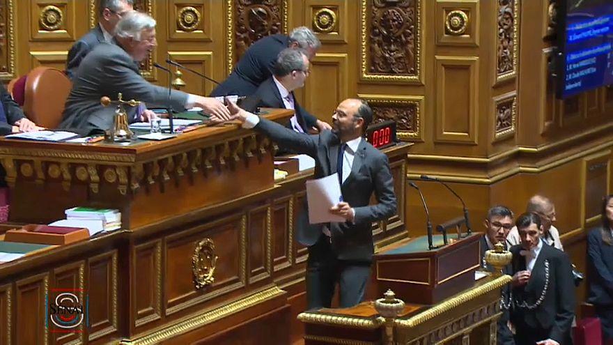 Edouard Philippe au sénat : forte abstention