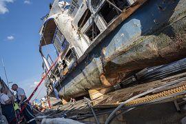 A rendőrök harmincnégy gigabájtnyi videofelvételt, kilenc gigabájtnyi fotót készítettek, rögzítették a hajón lévő sérüléseket, elváltozásokat.