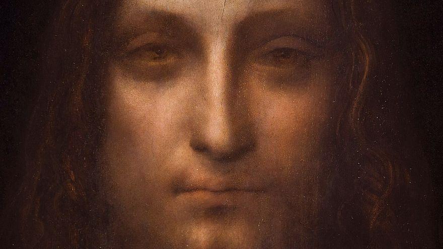 """مجتزأ من لوحة """"مخلص العالم"""" لدافنشي التي تعتبر أغلى زيتية في العالم"""