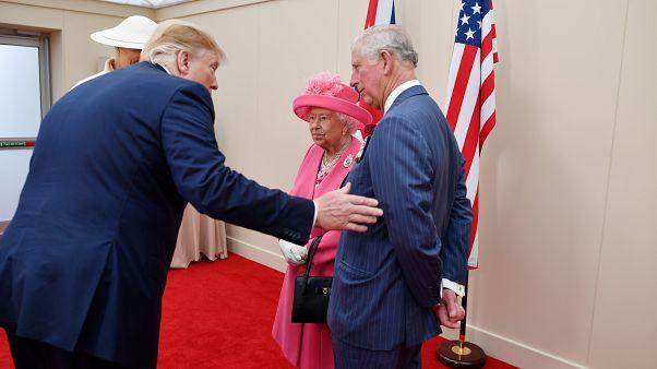 الملكة إليزابيث الثانية وأمير ويلز ودونالد ترامب هذا الشهر في بريطانيا