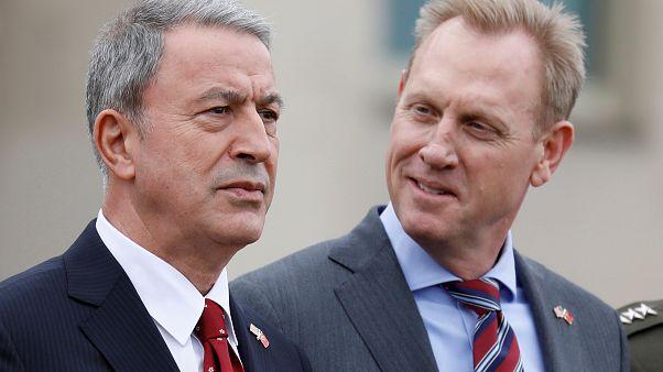 Türkiye Milli Savunma Bakanı Hulusi Akar ve ABD Savunma Bakanı Vekili Patrick Shanahan