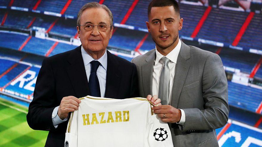 Belgian star Eden Hazard unveiled as Real Madrid player
