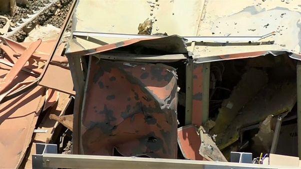 من الأضرار المادية التي طالت مطار أبها السعودي