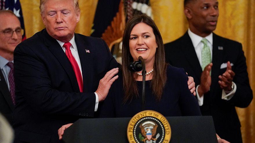 Пресс-секретарь Белого дома Сара Сандерс покидает свой пост
