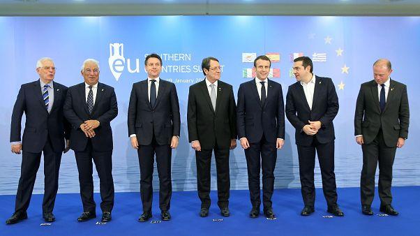 Φωτογραφία από την 5η Σύνοδο των Χωρών του Νότου της Ευρωπαϊκής Ένωσης (Med 7) στη Λευκωσία στις 29 Ιανουαρίου 2019.