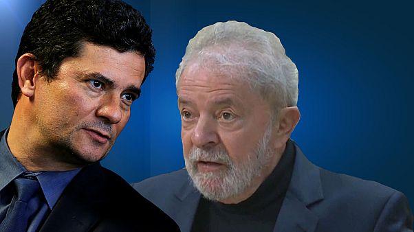 Sergio Moro et Lula Da Silva