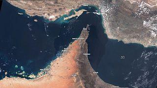 Mosaico de imágenes satélite