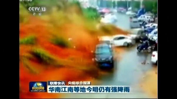 Cход оползня в Китае