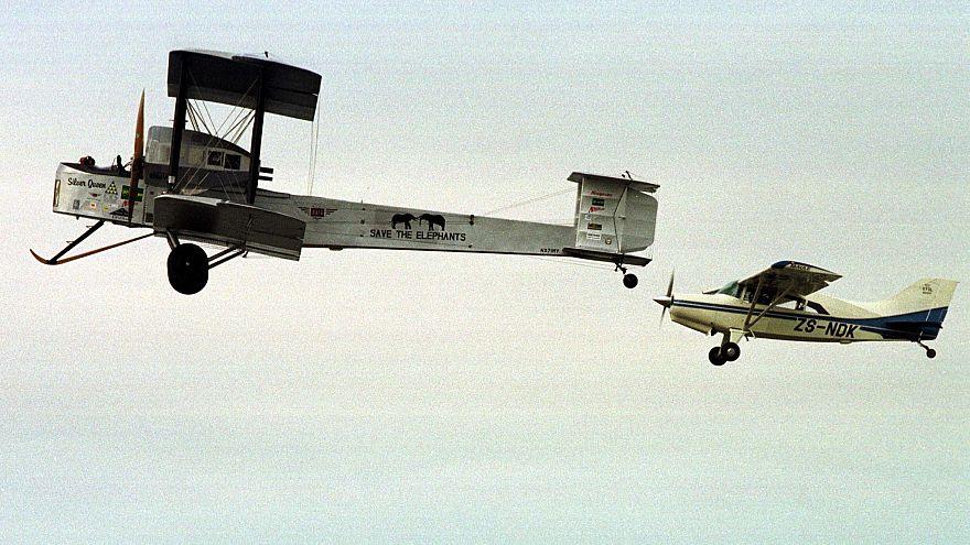 طائرة من نوع فيكرز فيمي التي عبرت الاطلسي من دون توقف 1919