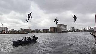 Flying high: New jet suits unveiled in London