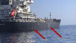 ناقلة نفط تعرضت للهجوم في خليج عمان