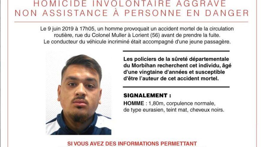 Fahrerflucht nach Unfall mit Kindern: Frankreich sucht diesen Mann