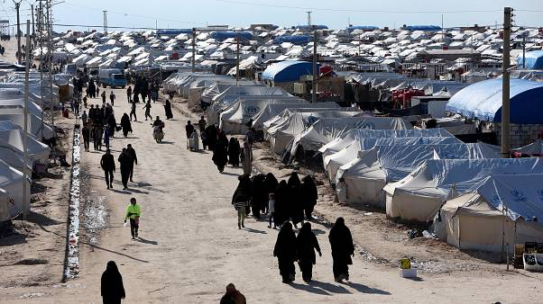 The al-Hol displacement camp in Hasaka governorate, Syria, April 1, 2019