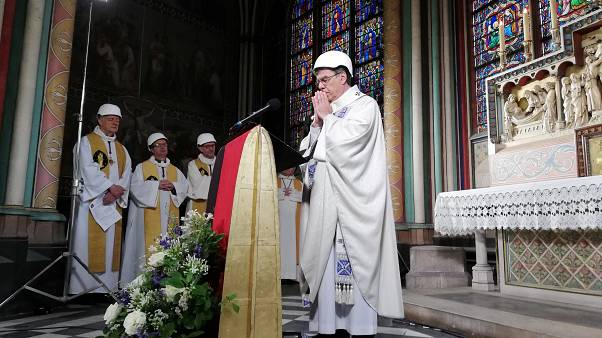 Notre Dame celebrates first mass after devastating fire