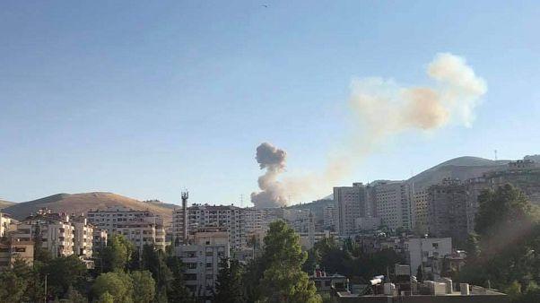 انفجار أحد مستودعات الذخيرة التابعة للجيش غربي دمشق
