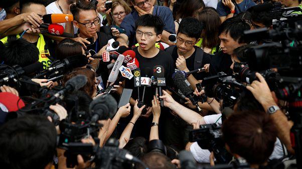 Hong Kong: Şemsiye hareketi aktivisti Wong hapisten çıkar çıkmaz protestolara katıldı