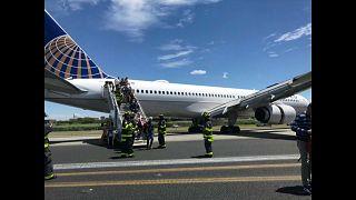 الطائرة التي خرجت من مسارها