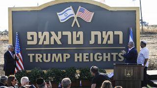 İsrail, Golan Tepeleri'ndeki yeni Yahudi yerleşim birimine 'Trump Tepeleri' adını verdi