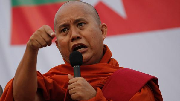 Müslümanlara yönelik şiddeti körüklediği iddia edilen rahibin yargılanmasına Budistlerden kınama