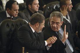 مع عمرو موسى مرشح الرئاسة المصرية في عام 2012