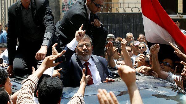 Morsi durante la campaña electoral en junio de 2012