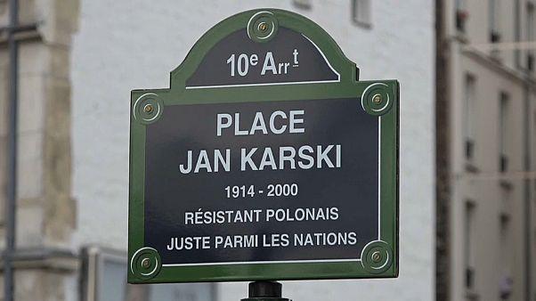 Paris homenageia membro da resistência polaca