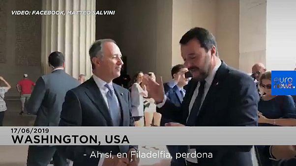 """Gazapo de Salvini que visitó """"las escaleras de Rocky en Washington"""" (Están en Filadelfia)"""