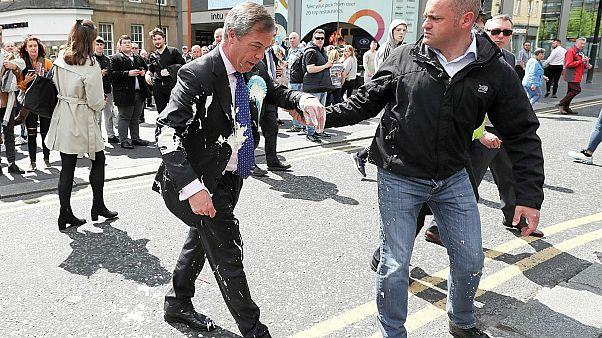 """فيديو: القضاء البريطاني يحكم على منفذ """"هجوم اللبن المخفوق"""" على """"عرّاب بريكست"""""""