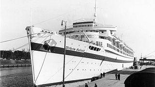 The MV Wilhelm Gustloff, then a hospital ship, in Gdansk on September 23, 1939.