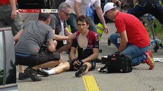 Thomas sufre una caída en el Tour de Suiza
