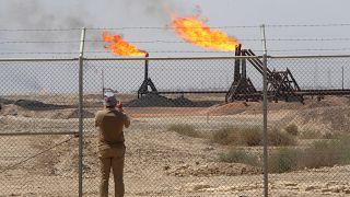 سقوط صاروخ قرب مقرات شركات نفط عالمية في البصرة العراقية