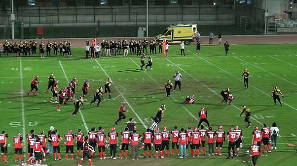 How are Egyptians leading the way for American football in the region?