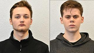 Michal Szewczuk (L) and Oskar Dunn-Koczorowski (R) were given prison sentences