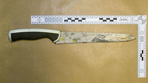 هذه السكين كانت استخدمت في مهاجمة عناصر شرطة في لندن