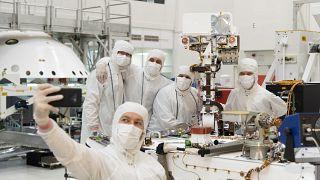 رواد فضاء أمريكيون يحتفلون بمرور 50 عاما على أول هبوط على سطح القمر