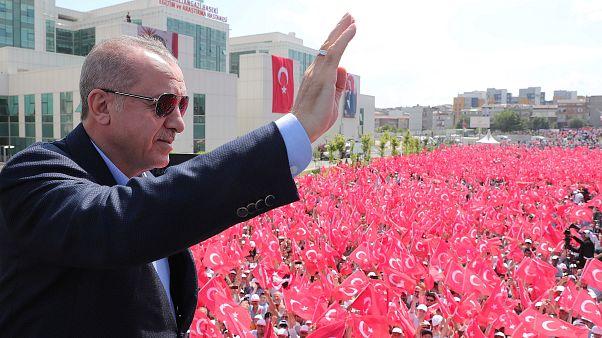 الرئيس التركي رجب طيب أردوغان في اسطنبول يوم الثلاثاء