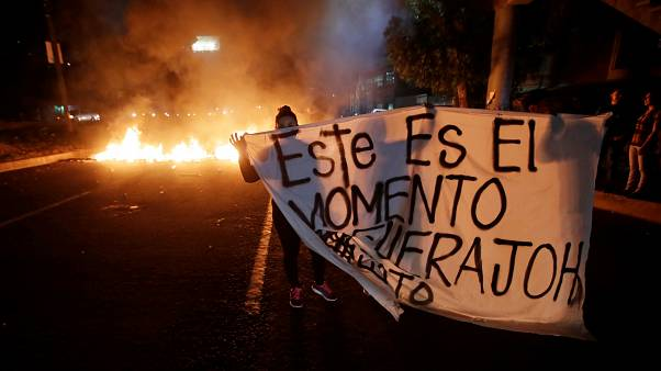 Honduras vive una noche de manifestaciones violentas en varias ciudades