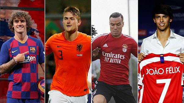 Griezmann no Barça, De Ligt na Juventus, De Tomas no Benfica e Felix no At. Madrid