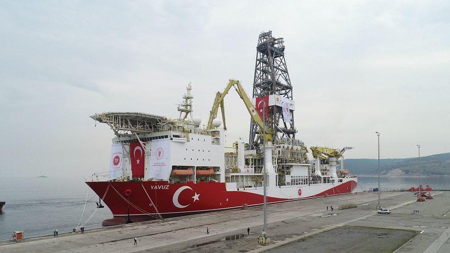 Yavuz sondaj gemisi, Kocaeli'nin Dilovası ilçesindeki bir limandan Akdenize yola çıktı