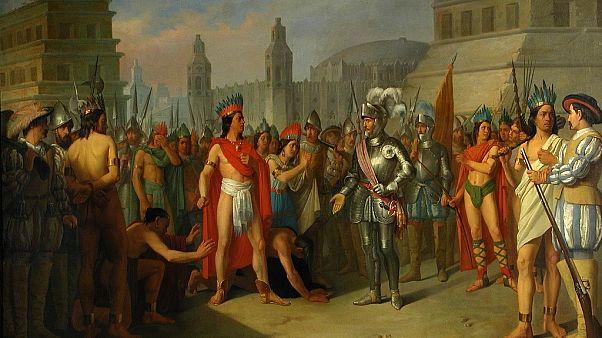 Obra: Prisión de Guatimocín, último emperador de Méjico de Carlos María Esquivel