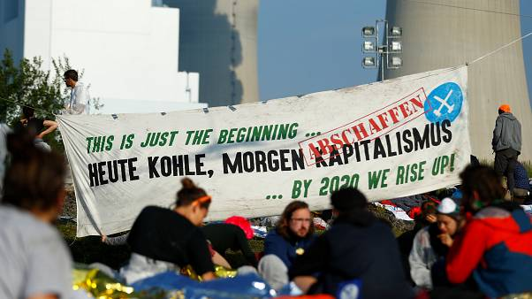 Thousands of protesters occupy German coal mine