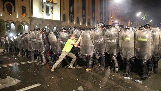 Georgian president blames Russia for stirring unrest in Tbilisi