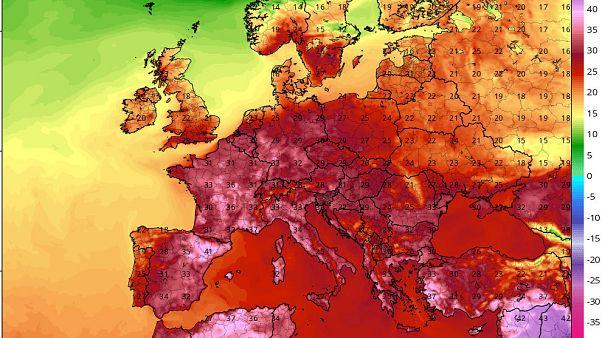 35-40 fokos hőhullám jön jövő héten egész Európában