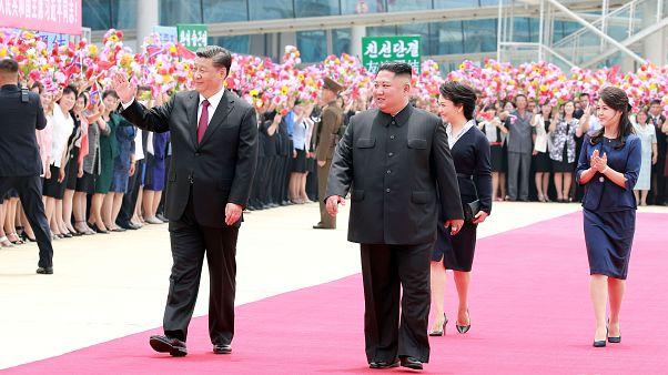 رئيسا الصين وكوريا الشمالية