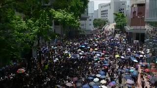 Thousands of protesters back on the streets of Hong Kong