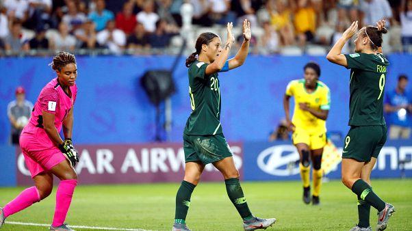 Sam Kerr's four goals takes Australia into knockout stage
