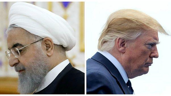 الرئيس الأمريكي دونالد ترامب والرئيس الإيراني حسن روحاني