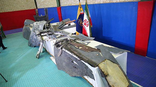 صورة نشرتها أمس وكالة تسنيم لمَا تقول طهران إنها أجزاء من الطائرة الأميركية التي تم إسقاطها